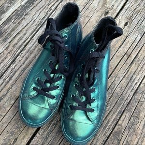 CONVERSE Metallic Green All Stars | 6